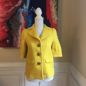 JUICY COUTURE Yellow Wool Jacket Blazer Sz.2